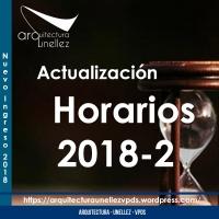 Actualización Horarios 2018-2